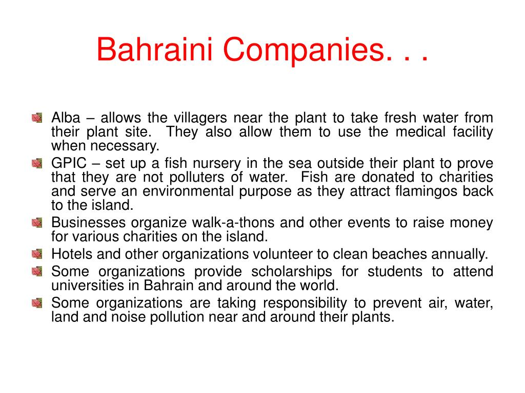Bahraini Companies. . .