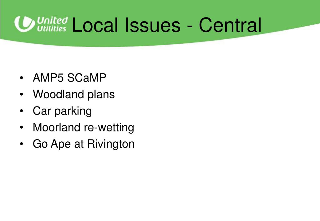Local Issues - Central