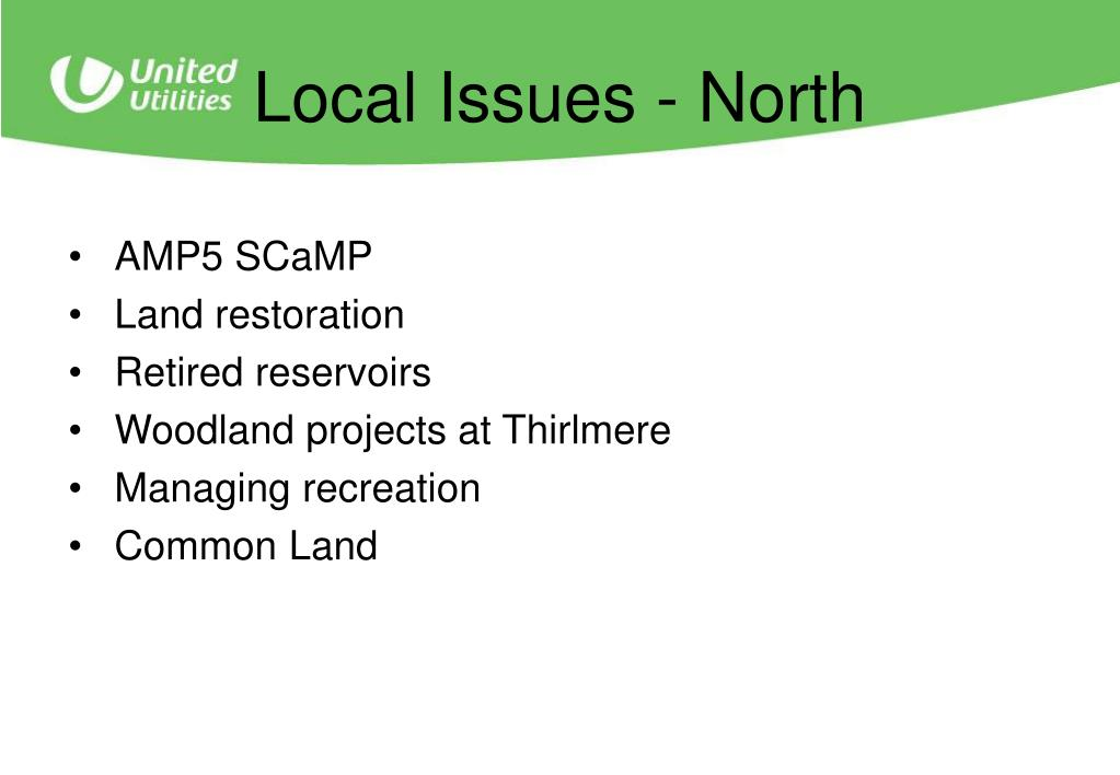 Local Issues - North