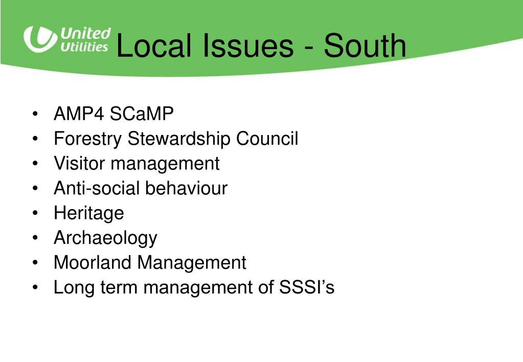 Local Issues - South