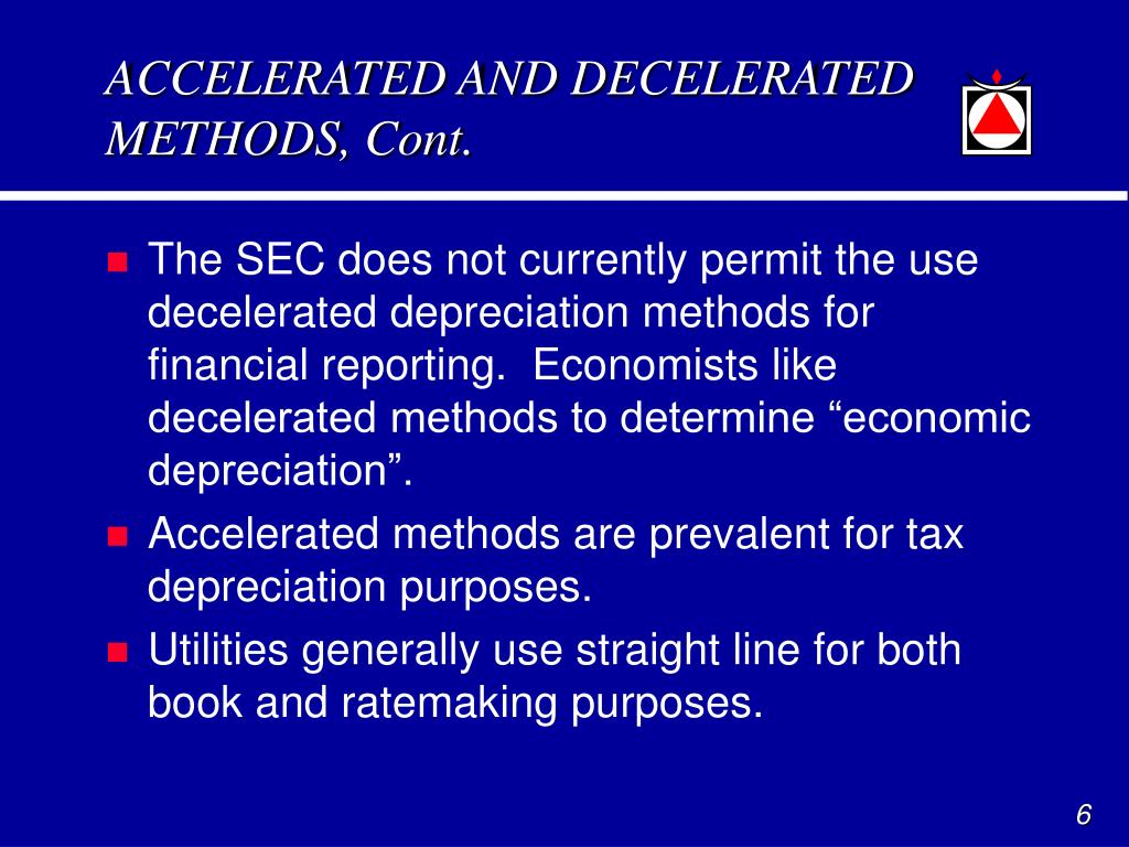 ACCELERATED AND DECELERATED METHODS, Cont.