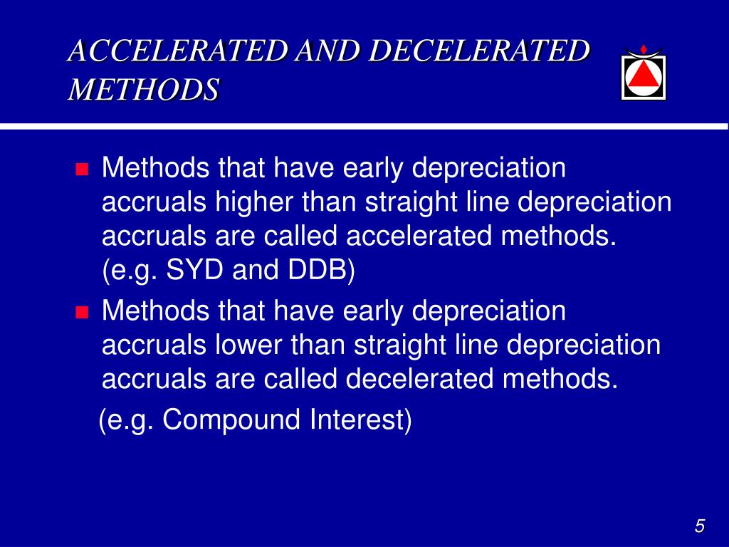 ACCELERATED AND DECELERATED METHODS