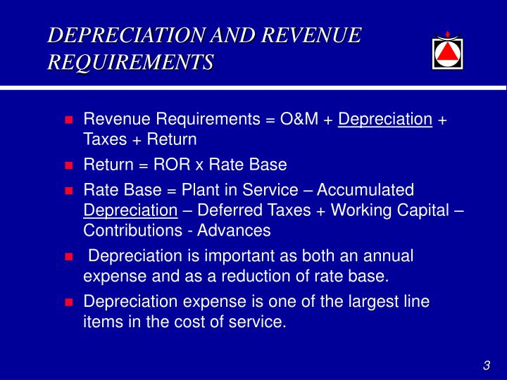 Depreciation and revenue requirements