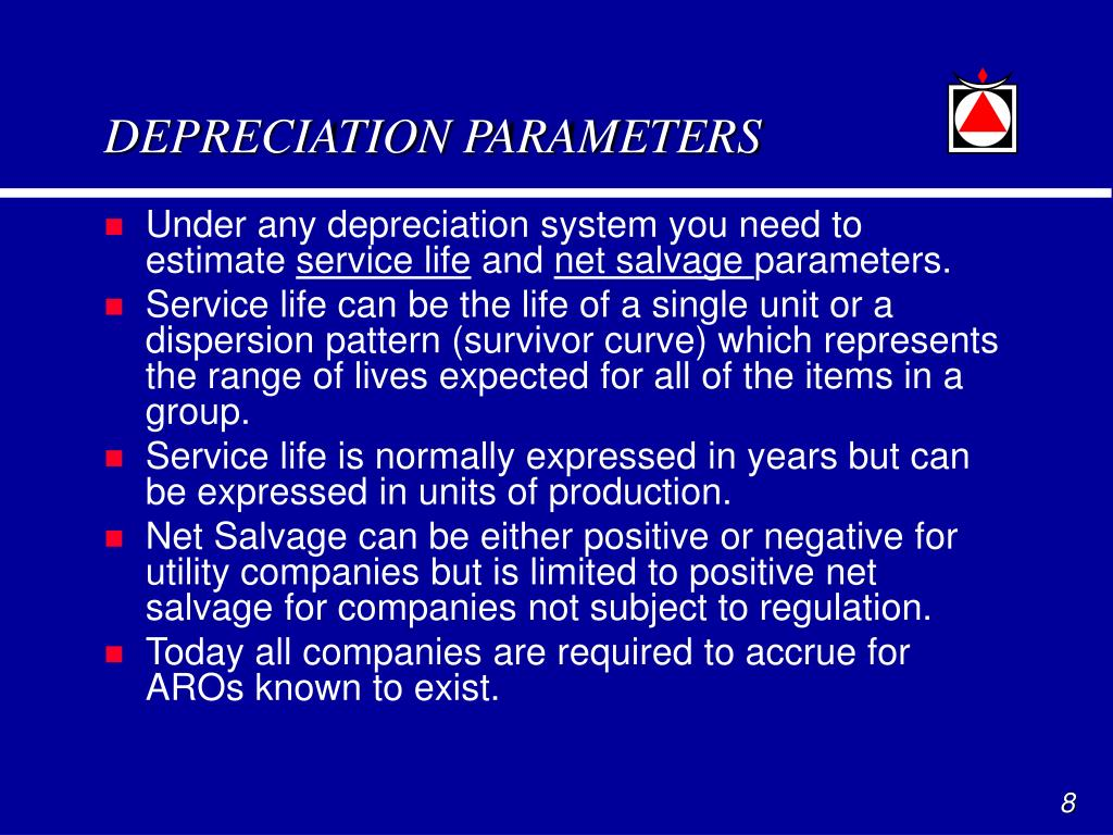 DEPRECIATION PARAMETERS