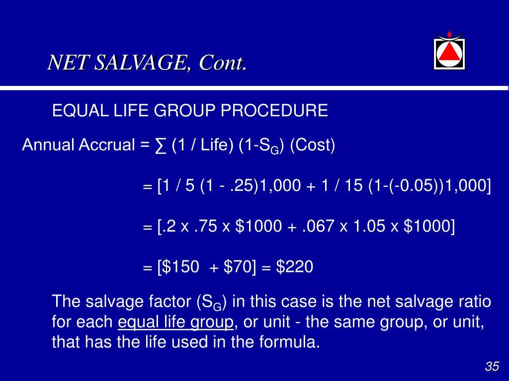 NET SALVAGE, Cont.
