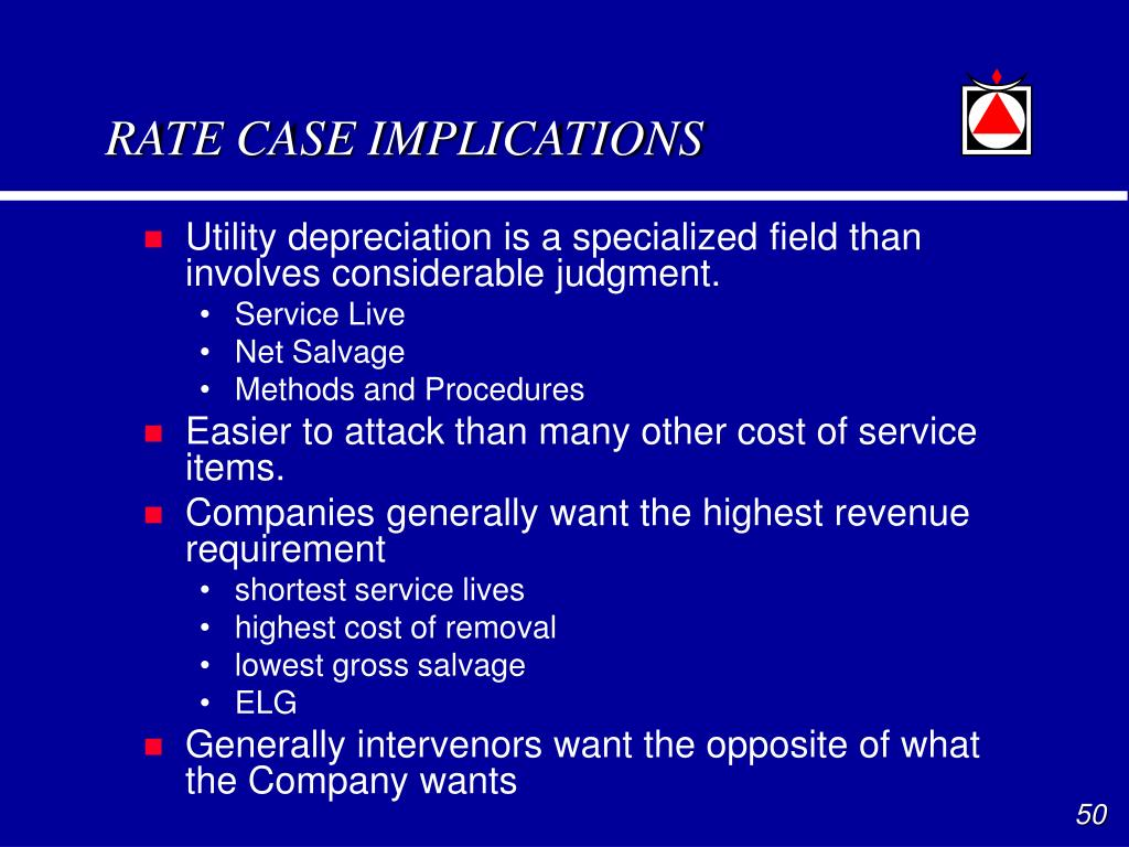 RATE CASE IMPLICATIONS