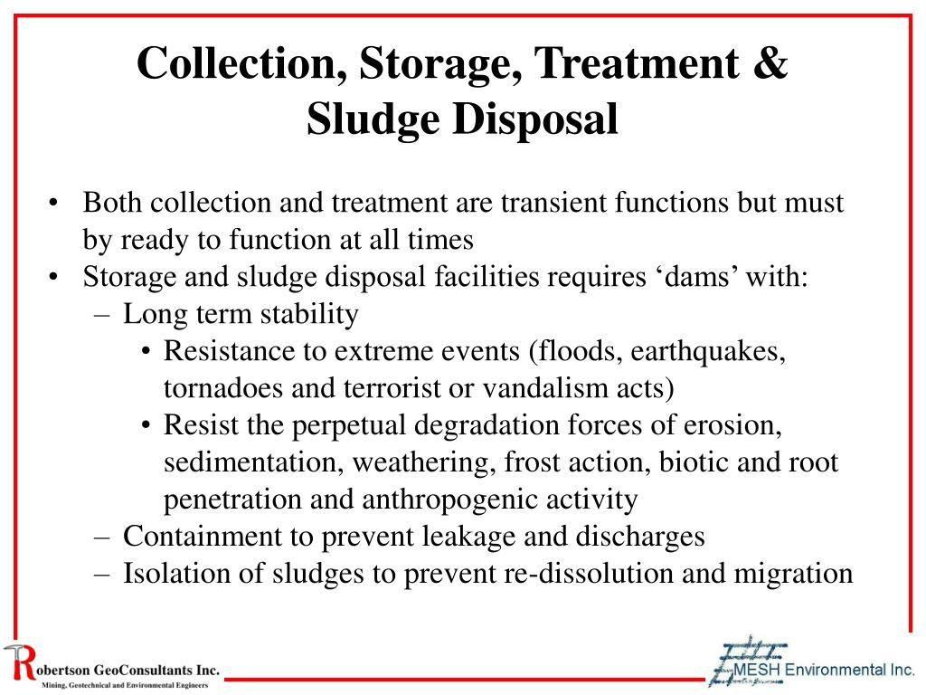 Collection, Storage, Treatment & Sludge Disposal