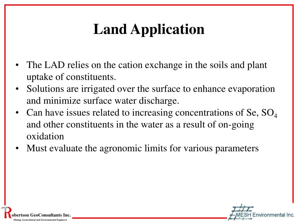 Land Application