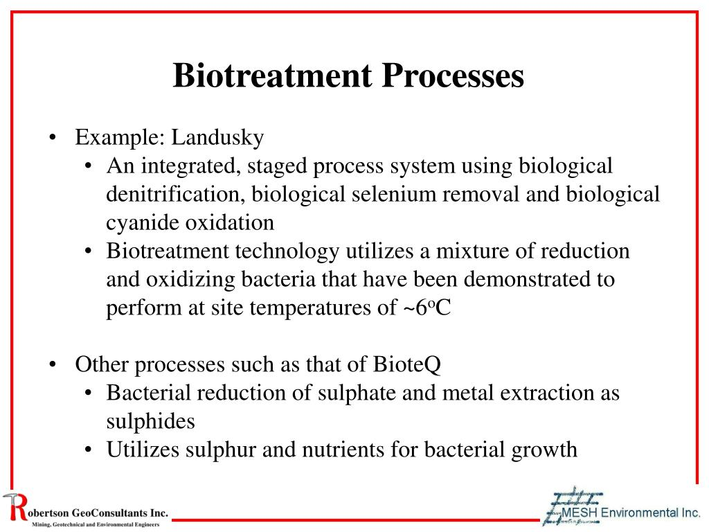Biotreatment Processes
