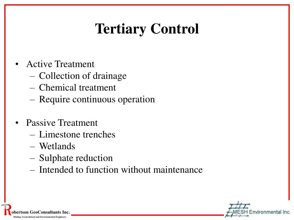 Tertiary Control