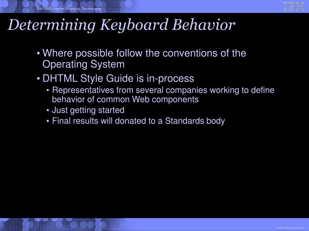 Determining Keyboard Behavior