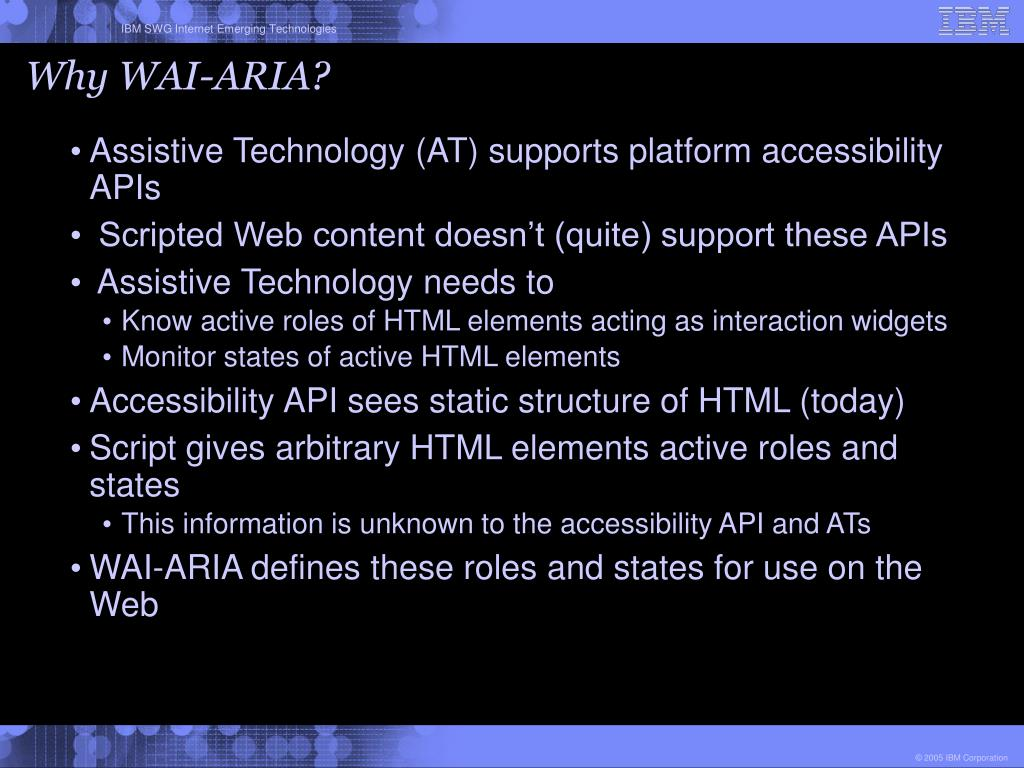 Why WAI-ARIA?