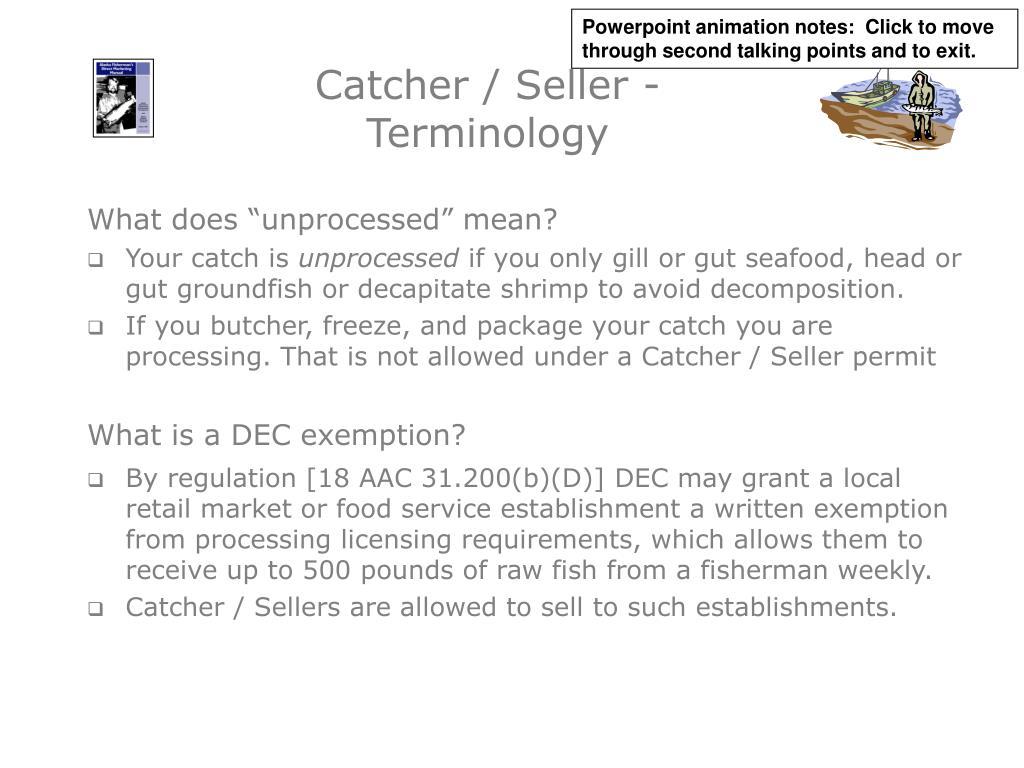 Catcher / Seller - Terminology