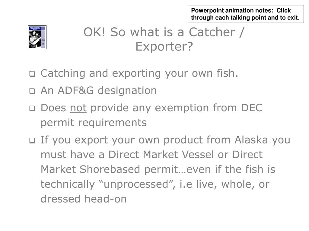 OK! So what is a Catcher / Exporter?