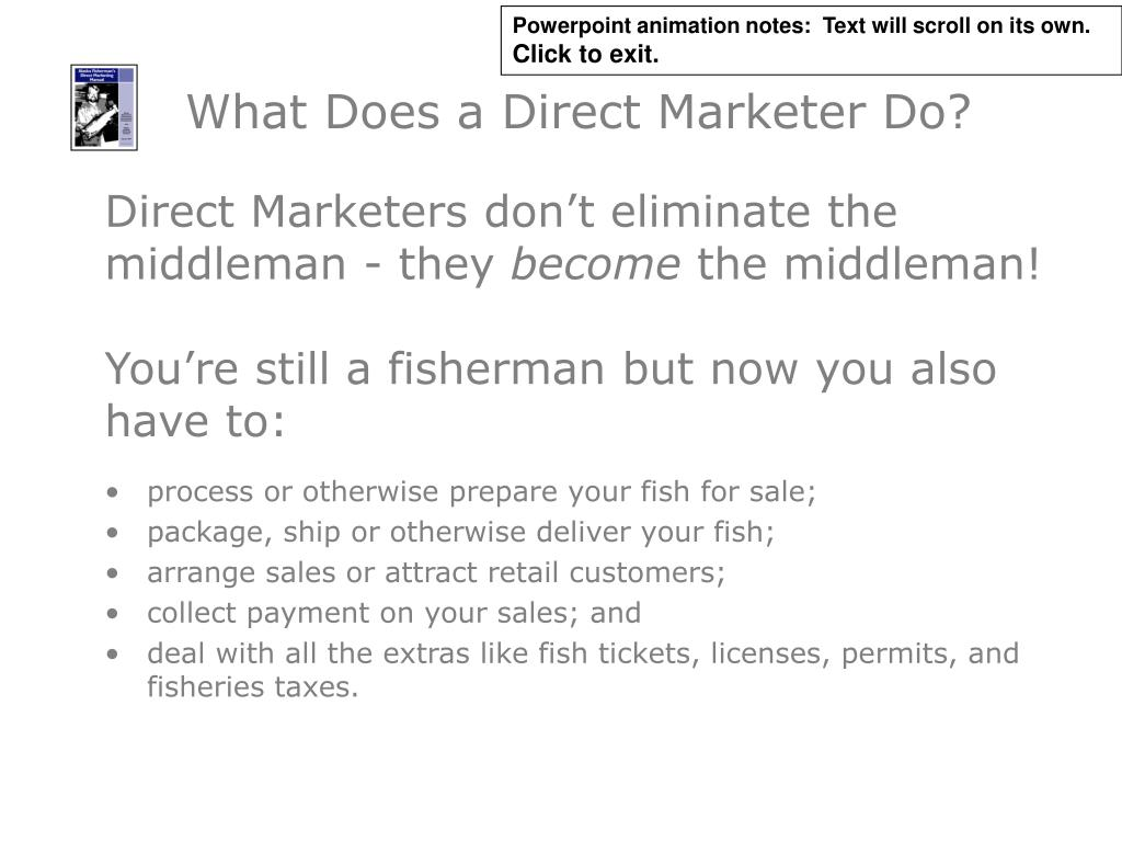 What Does a Direct Marketer Do?