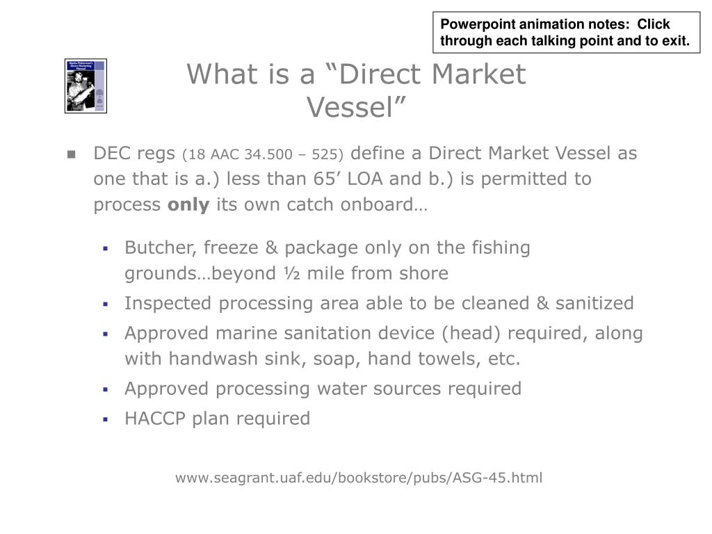 """What is a """"Direct Market Vessel"""""""
