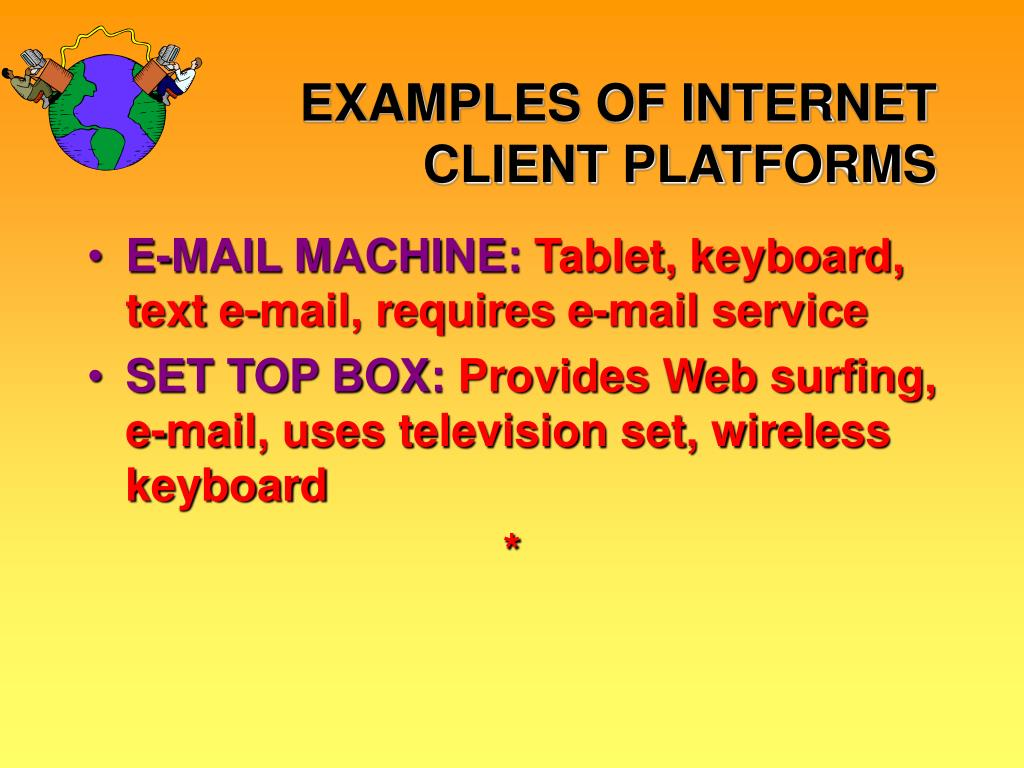 EXAMPLES OF INTERNET