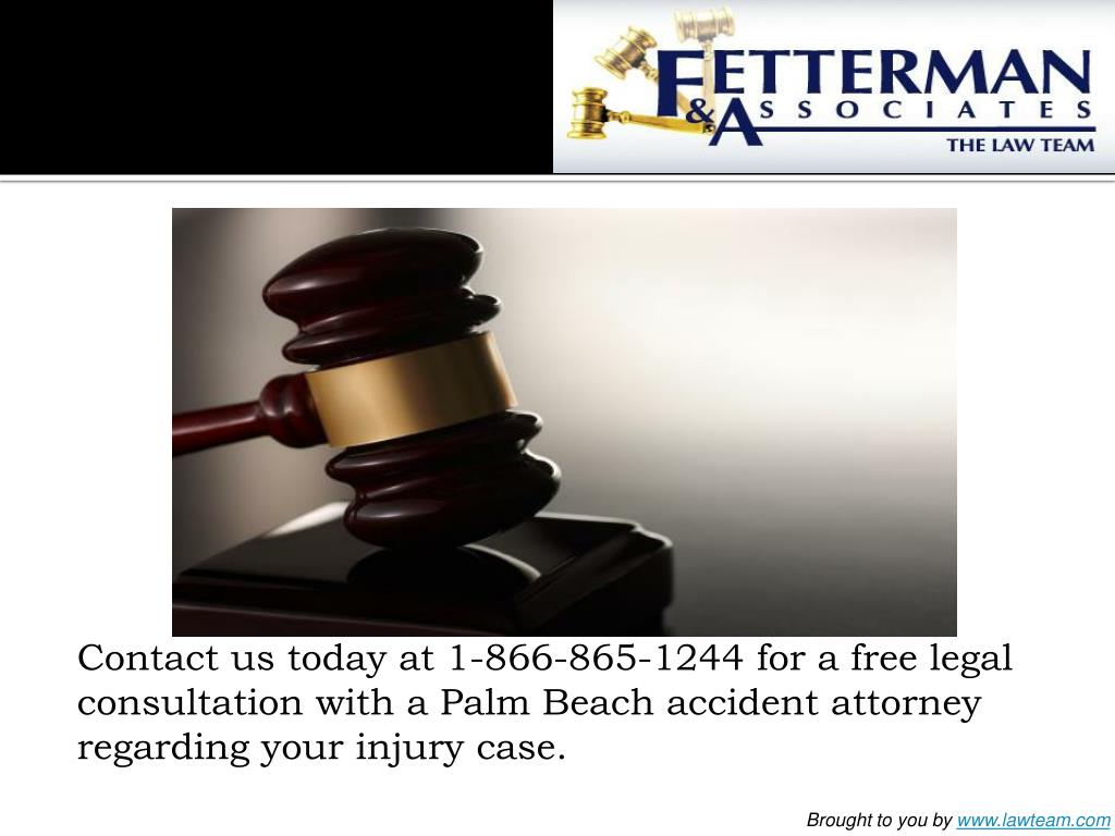 Contact us today at 1-866-865-1244 for a free legal consultation with a Palm Beach accident attorney regarding your injury case.