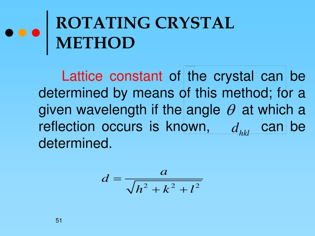 ROTATING CRYSTAL METHOD