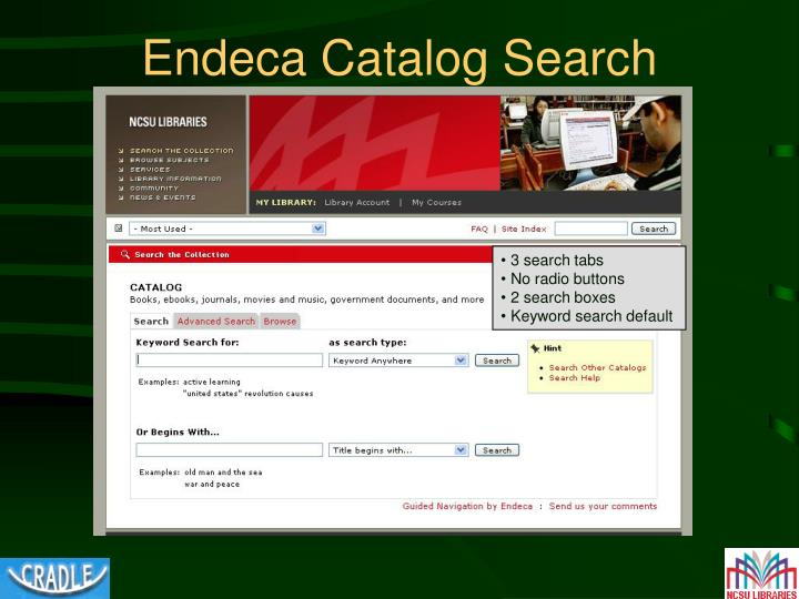 Endeca Catalog Search