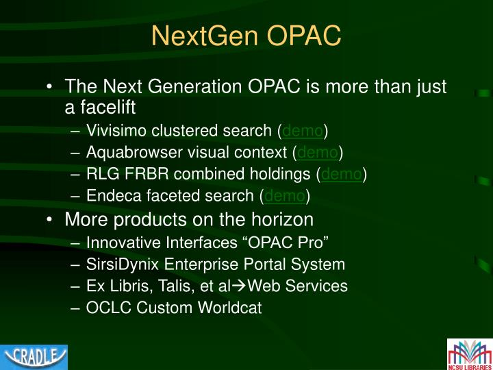 NextGen OPAC