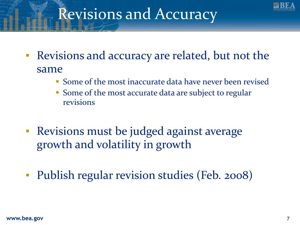 Revisions and Accuracy