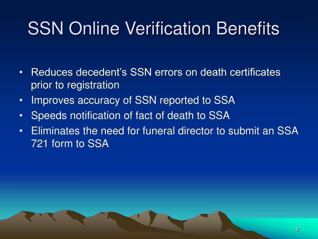SSN Online Verification Benefits