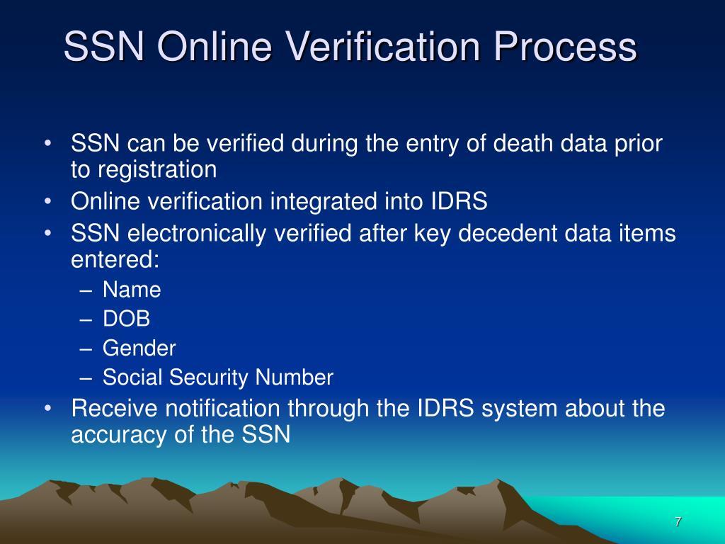 SSN Online Verification Process