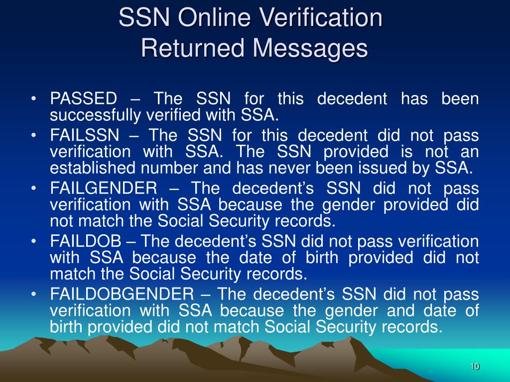 SSN Online Verification