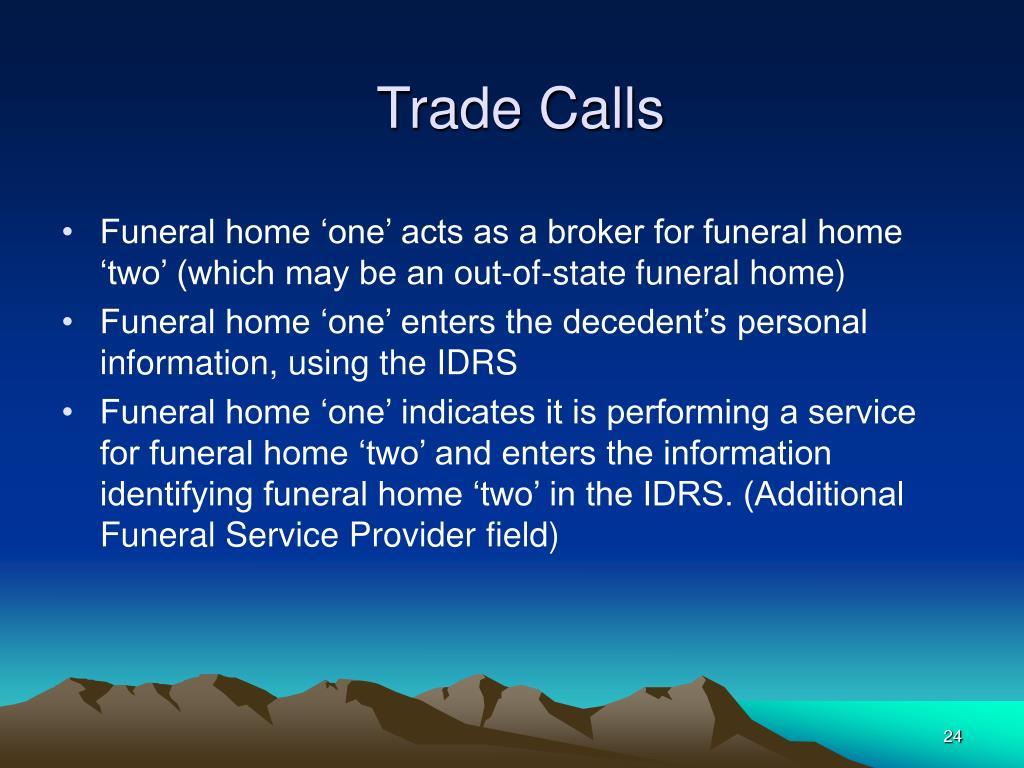 Trade Calls