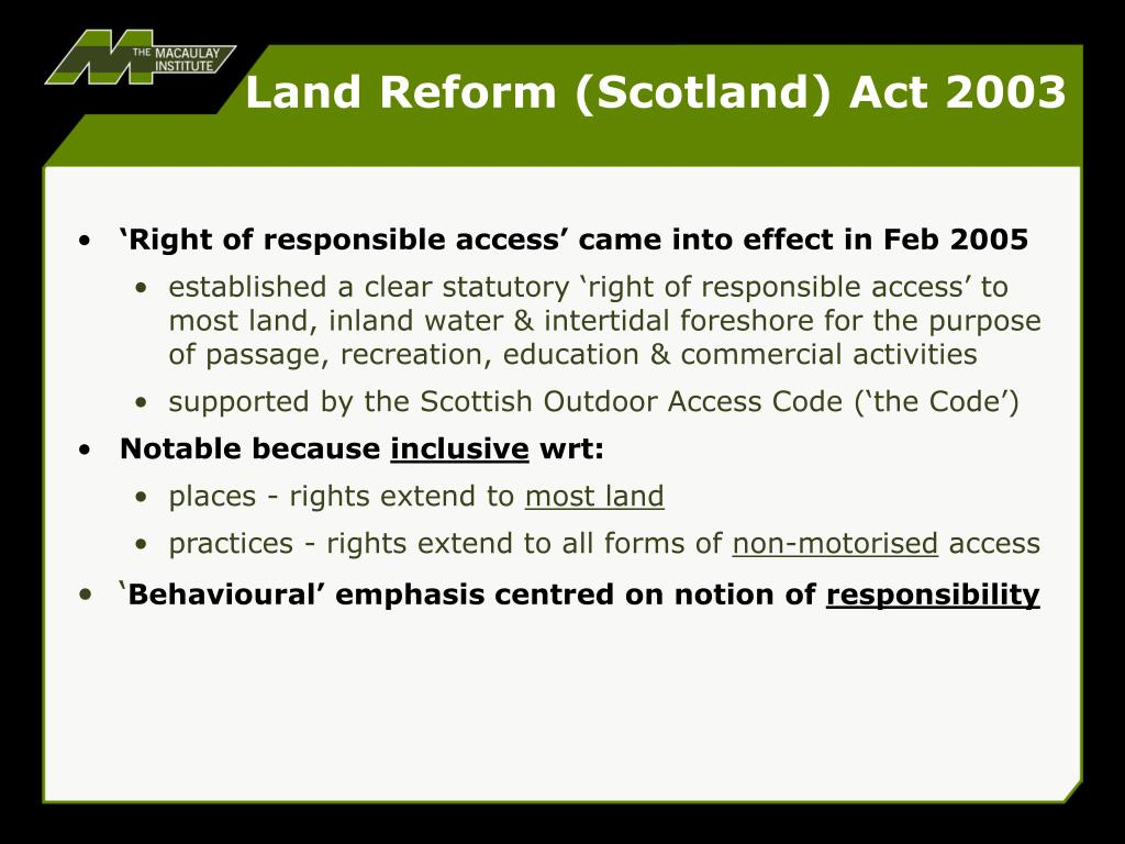 Land Reform (Scotland) Act 2003