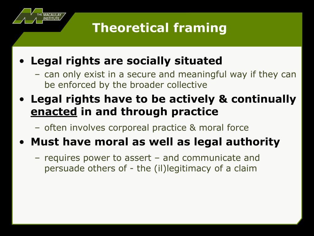 Theoretical framing