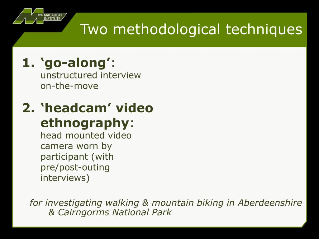 Two methodological techniques