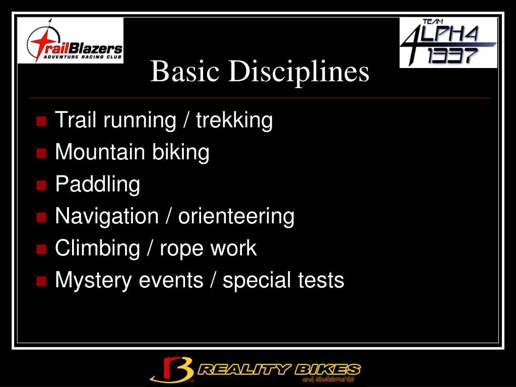 Basic Disciplines