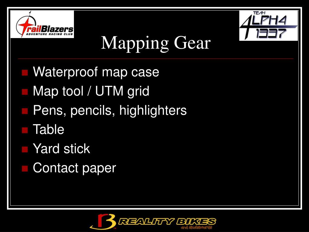 Mapping Gear