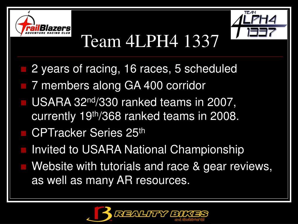 Team 4LPH4 1337