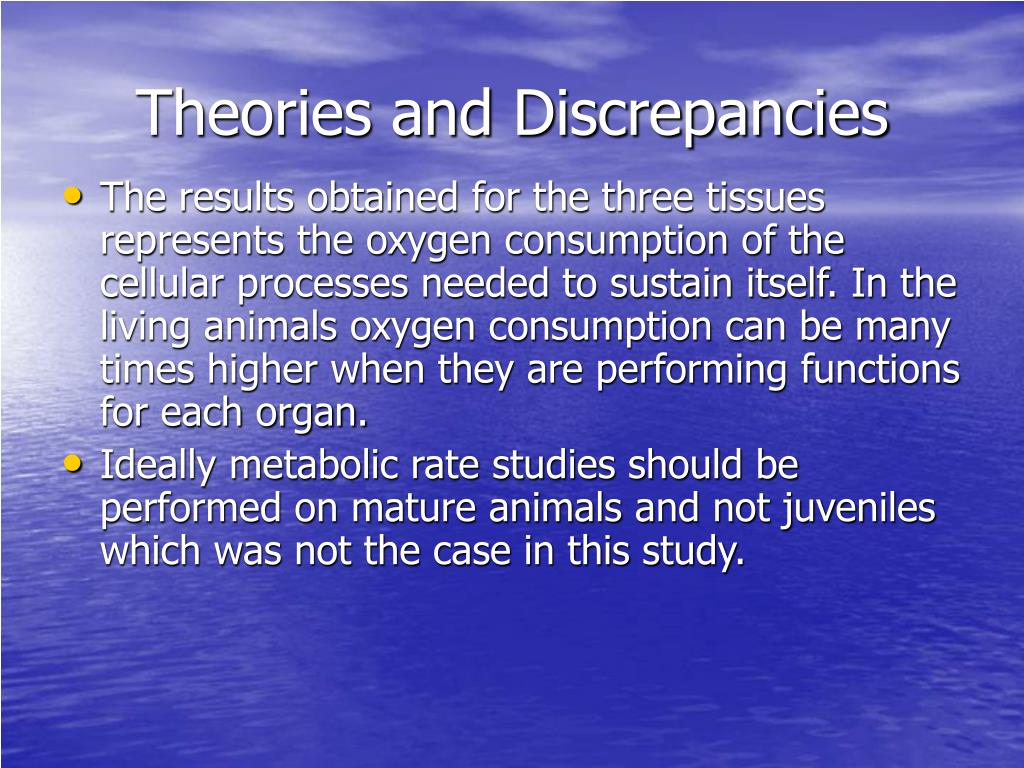 Theories and Discrepancies
