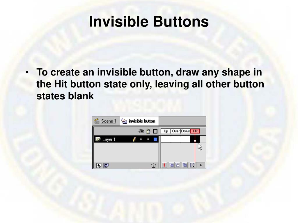 Invisible Buttons