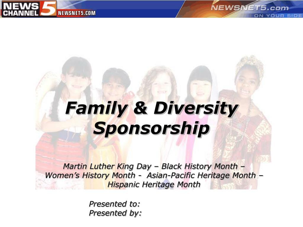 Family & Diversity Sponsorship