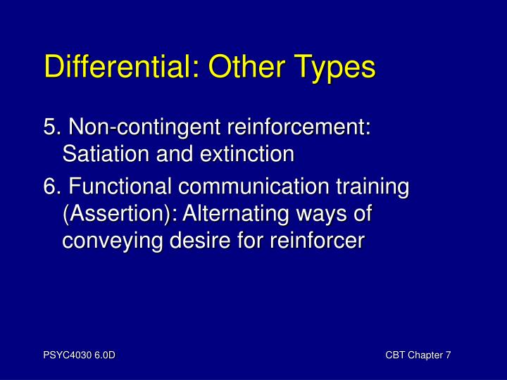 Differential other types