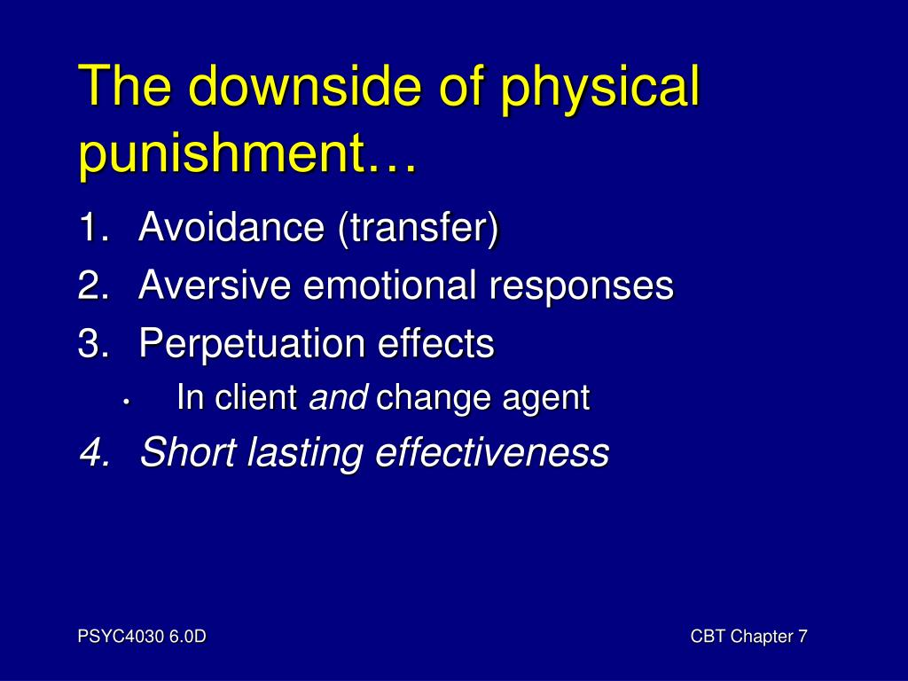 The downside of physical punishment…
