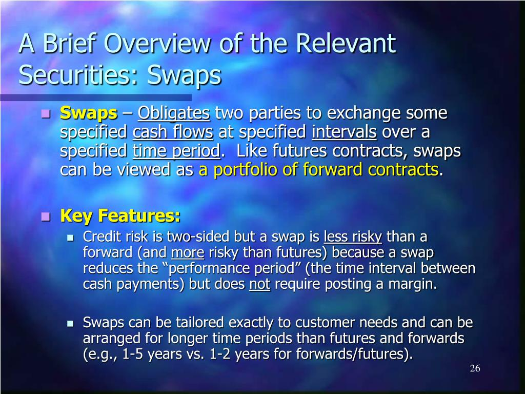 A Brief Overview of the Relevant Securities: Swaps