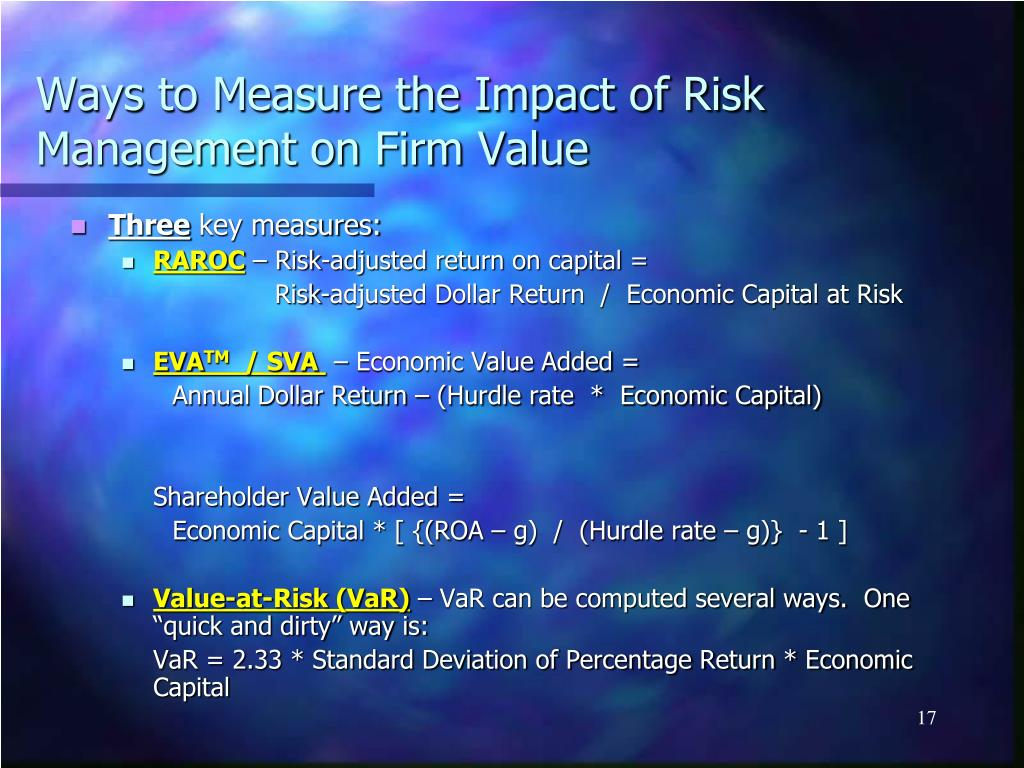 Ways to Measure the Impact of Risk Management on Firm Value