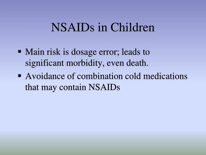 NSAIDs in Children