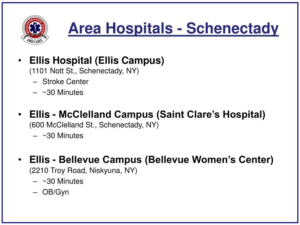 Area Hospitals - Schenectady