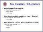area hospitals schenectady