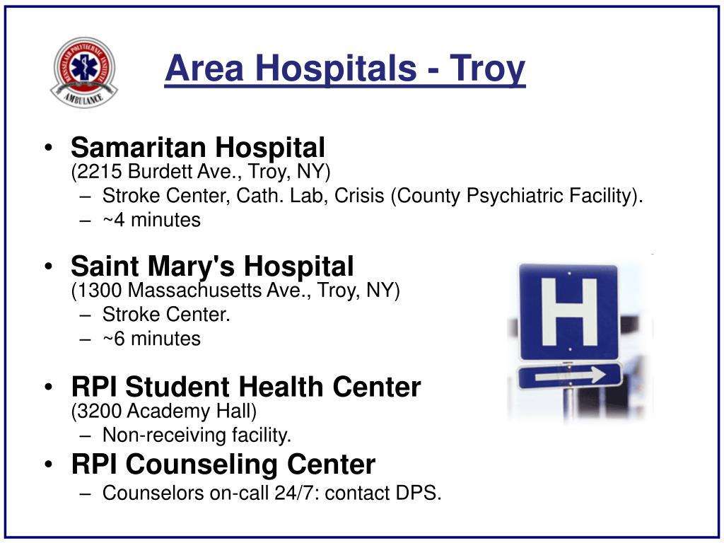 Area Hospitals - Troy