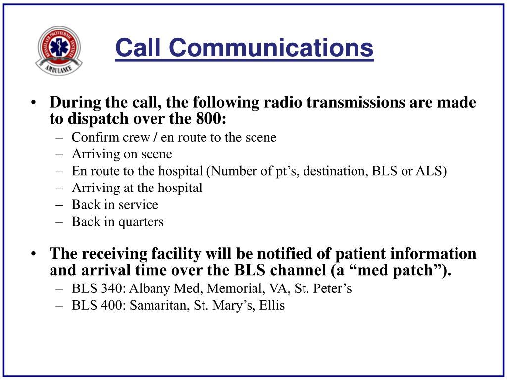 Call Communications