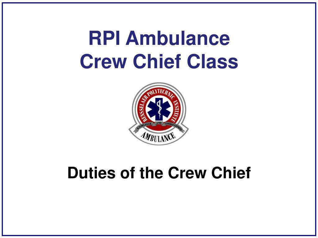 RPI Ambulance
