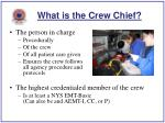 what is the crew chief